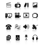 Fototapety Miscellaneous multimedia vector icons