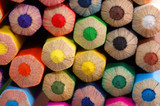Fototapeta Colored pencils macro