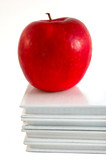 textbooks with apple poster