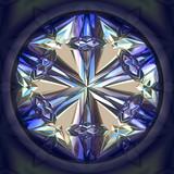 Spaphire closeup, precious blue stone poster