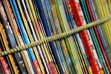 Alte Zeitschriften auf dem Flohmarkt