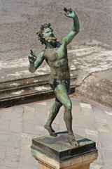 Satyr statue from Pompeii