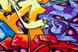 Vibrant graffiti poster