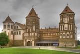 Medieval castle in town Mir in Belarus - HDR Version poster