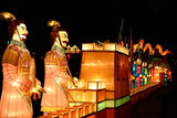 terracotta warriors at chinese new year lantern festival poster