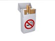 No smoking packet of cigarettes