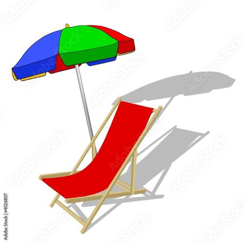 liegestuhl und sonnenschirm stockfotos und lizenzfreie bilder auf bild 4026807. Black Bedroom Furniture Sets. Home Design Ideas