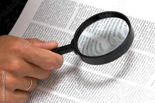 Magnifier in hand