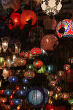 Turkish lamps in Grand Bazaar, Istanbul, Turkey poster