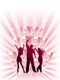 Music burst poster