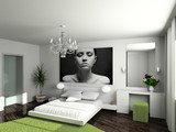 modern comfortable interior poster