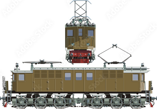 vector retro locomotive Vl-19-01