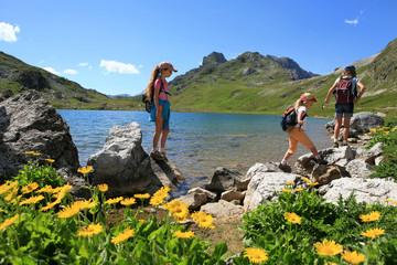Randonnée lac et enfants