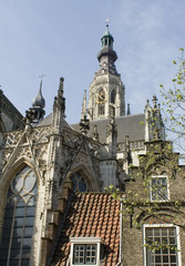 Look at the Grote Kerk of Breda