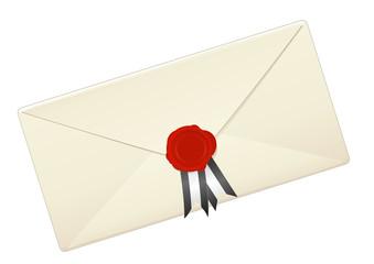 Enveloppe et son sceau