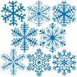 Snowflakes A - illustration