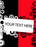Red and Black Circle copyspace poster