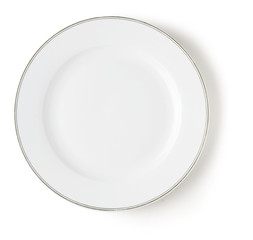 white empty dish