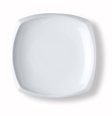 blank and empty white dish