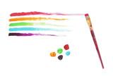 Rainbow Paint Strokes poster