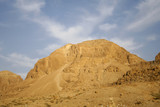 Desert landscape in the dead sea region poster