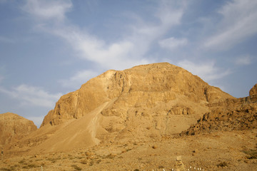 Desert landscape in the dead sea region