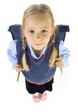 Fototapety Little school girl