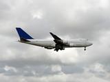 Jumbo jet delivering cargo worldwide poster