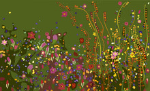 Gustav Klimt, blommor