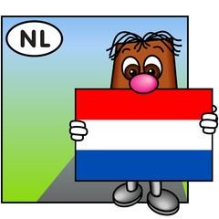 'Brownie' Showing the Flag of the Netherlands