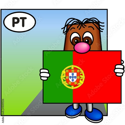 'Brownie' Carrying the Flag of Portugal
