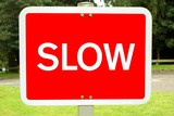 sign. slow poster