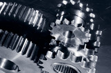 gear machinery in dark toning poster