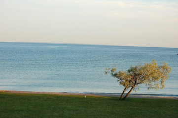 soleil levant sur la mer baltique