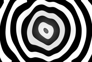 Op Art black circle