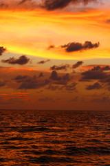 orange sunset in florida