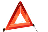 Road hazard warning triangle poster