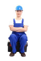 Confident service woman