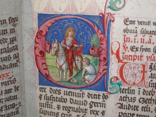 heiliger martin in einem mittelalterlichen buch - 4068239