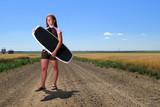 Prairie Girl Wake Boarder poster