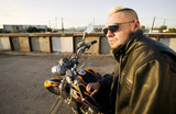 Motorcycle Punk with Leather Jacket poster