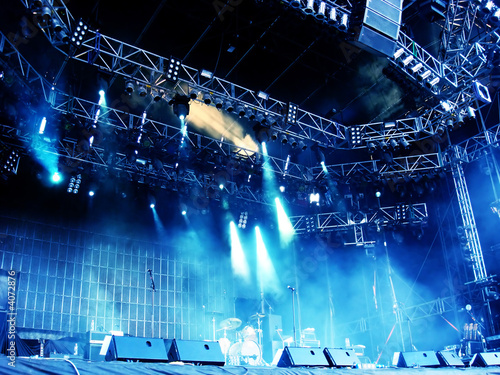 canvas print picture Concert Stage
