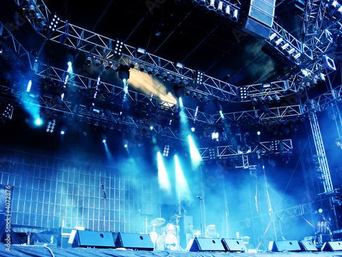 Foto op Aluminium Uitvoering Concert Stage