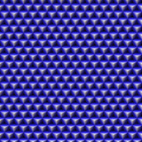 geometric wallpaper made up of blue cubic shapes poster