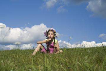 Girl with  soap bubbles VI