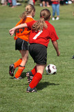 Youth Soccer or Football Player in Action 10 poster
