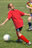 Youth Soccer or Football Player in Action 2 poster