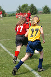 Youth Soccer or Football Player in Action 5 poster