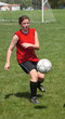 Youth Teen Soccer Player in Action 17