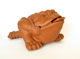 Fengshui's figuline of lucky frog with coin